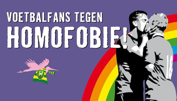 Voetbalfans tegen homofobie